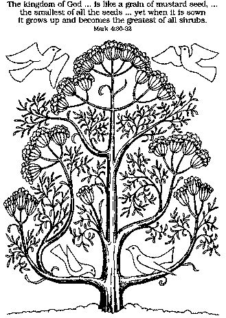 mustard seed coloring page - 91 best mustard seed parable crafts images on pinterest
