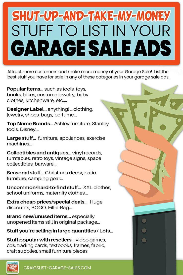How To Host A Crazy Profitable Garage Sale Yard Sale Yard Sale Pricing Yard Sale Hacks