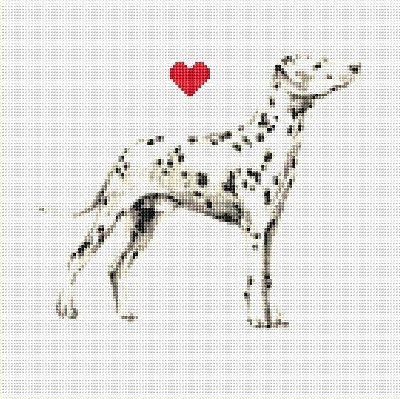 Dalmatian Counted Cross Stitch Pattern / Chart Instant