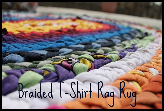 tappeto straccio intrecciato t-shirt
