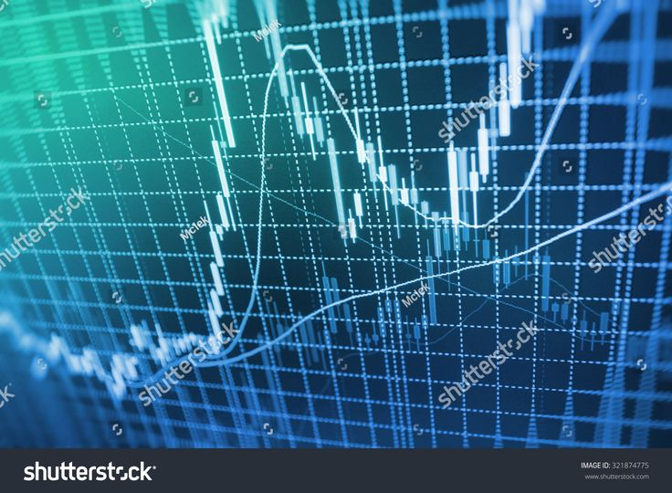 Stock Exchange Graph Screen Electronic Company Corporate Index Display Profit Economic Global Graphic Loss S