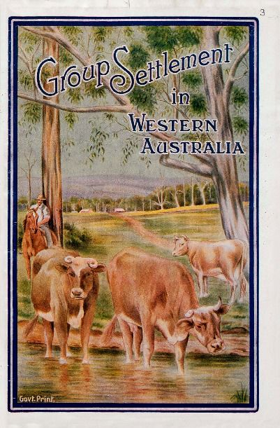 Group Settlement in Western Australia 1923. http://encore.slwa.wa.gov.au/iii/encore/record/C__Rb1099870__So00265__Orightresult__U__X3?lang=eng&suite=def