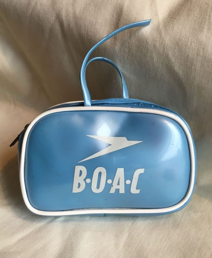 Vintage BOAC British Overseas Airways Corporation Doll Mini Flight Bag