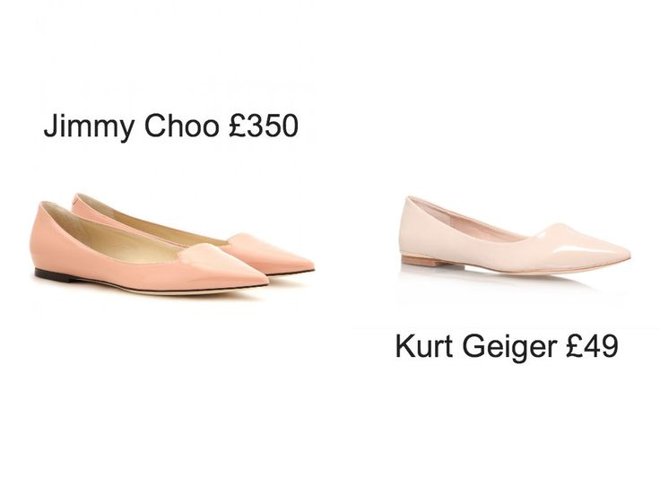 Nude pointed pumps just like Jimmy Choo.  £49 @ Kurt Geiger