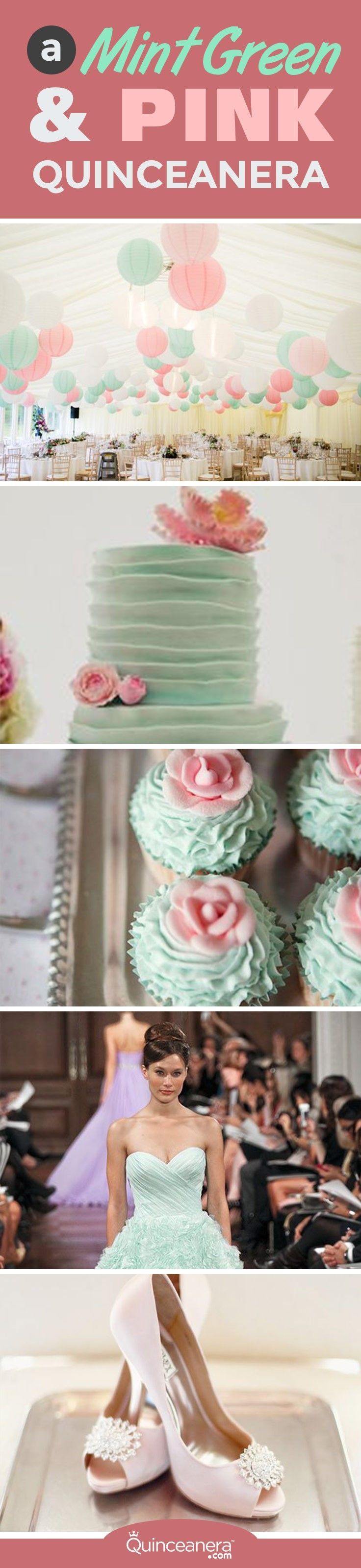Finding thematic decorations could end up being extremely expensive while a color can easily be adapted to suit your Quince budget. - See more at: http://www.quinceanera.com/decorations-themes/mint-green-pink-quinceanera/#sthash.U5FRy0jX.dpuf