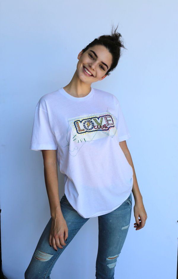 allthingskendall: The Love Magazine: Kendall in the LOVE TEE, available at Dover St Market Piccadilly from Saturday
