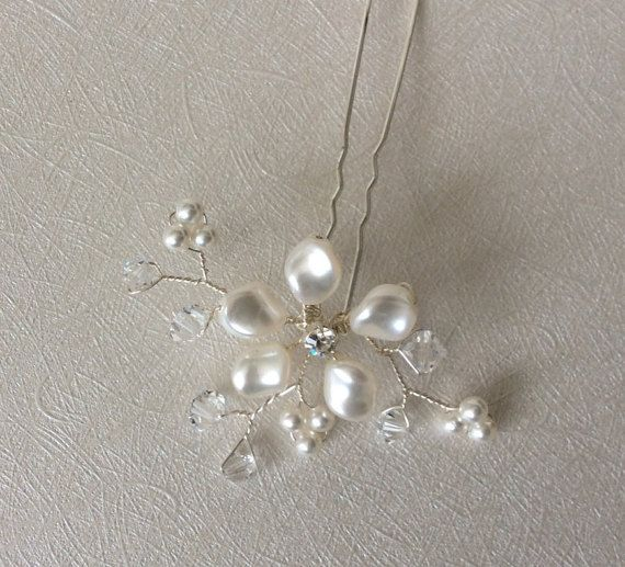 Bridal Hairjewelry Bridal Hairpin Wedding by glamourbysonja