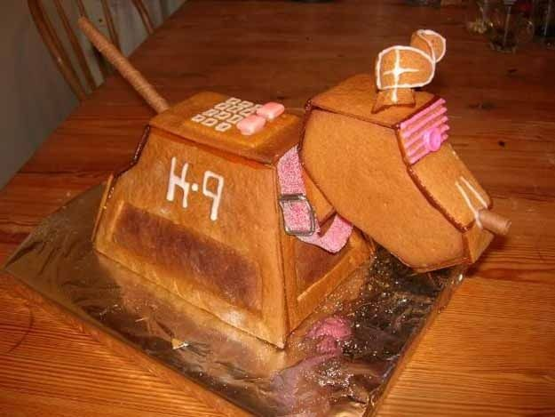 """K-9 - """"Doctor Who""""   20 Deliciously Geeky Pieces Of Gingerbread Art"""