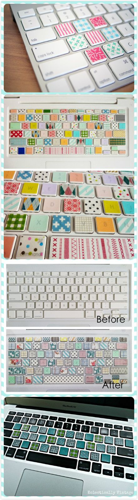 Washi Tape Keyboard, I like the first pic!