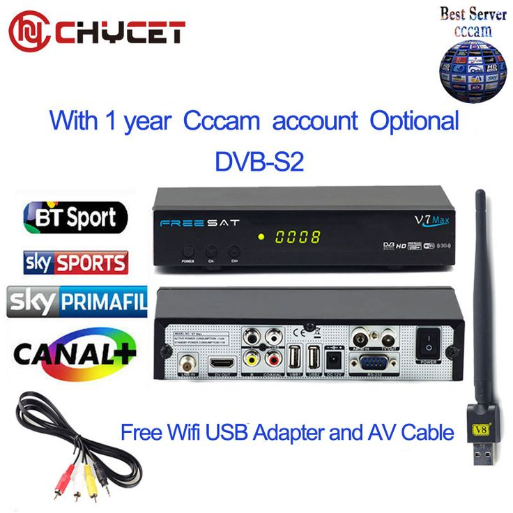 ==> [Free Shipping] Buy Best Chycet FREESAT V7 Max 1080P FULL HD DVB-S2 Satellite receive Free 1PC USB WiFi Set top Box Support YouTube Cccam Server Online with LOWEST Price   32802080442