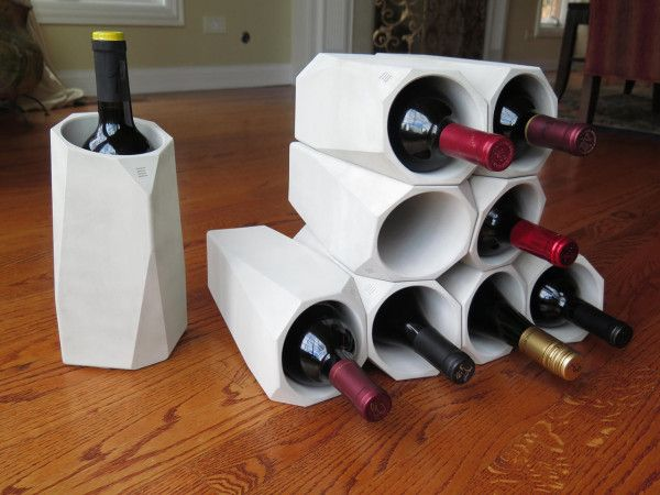 1000 images about concrete on pinterest candleholders for Concrete wine cooler