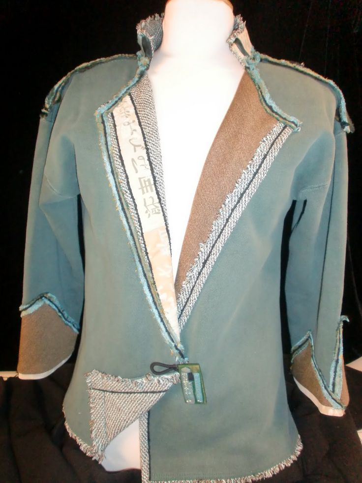 Sew Sweatshirt into Cardigan | The aqua jacket - which I named 'Harmony' because I learned alot about ...