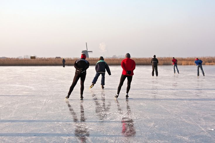 The Dutch people are well known of their ice skating skills, they are the best all over the world. When there is ice in the Netherlands, it is a ritual to skate on it, usually with friends and family.