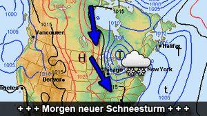 Erst Schneesturm, dann eisige Kälte Die uSA vor neuem Kälteeinbruch - wetteronline.de