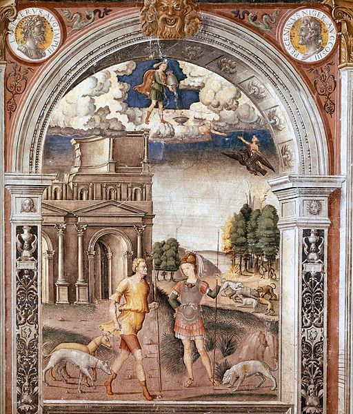 """""""Sign of Aquarius,"""" by Giovanni Maria Falconetto (1468–1535). Fresco from between 1515 and 1520, currently in the  Palazzo d'Arco, Italy."""