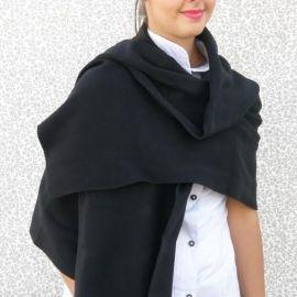 knitted Shawl - Black