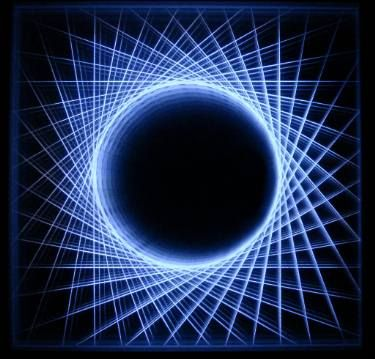 Circular horizons / 24x24cm, Light Object / infinity mirror  https://www.djpeter.co.za