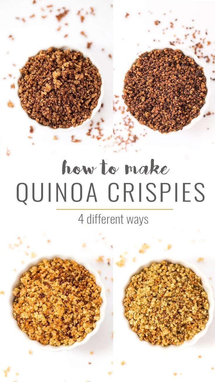 Turn your leftover quinoa into a delicious snack by making QUINOA CRISPIES at home, in four amazing flavors! Use for smoothie bowls, yogurt, salad and more!