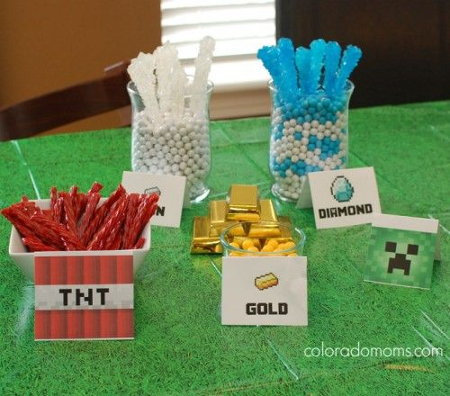 Minecraft candy table. | Party Ideas | Pinterest ...
