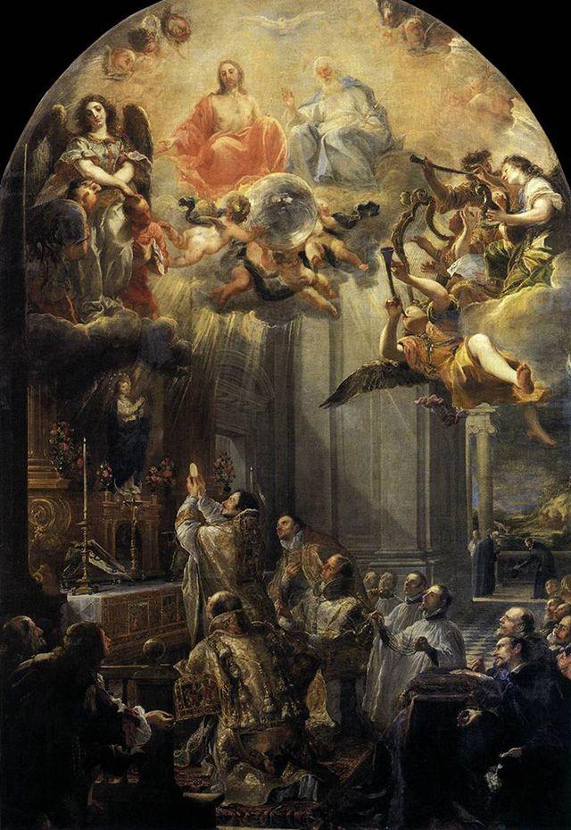 A Santa Missa honra a Ssma Trindade como nada mais pode honrar porque é o sacrificio perfeito que o próprio Jesus oferece.