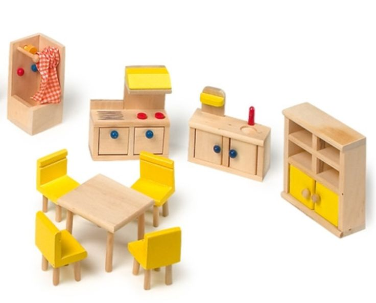muebles de madera para muñecas