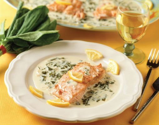 Fresh Sorrel Sauce for Fish: Fish served in a sorrel sauce is a staple of French cuisine. The sauce is especially good with salmon fillets, but also complements halibut, cod and sole.