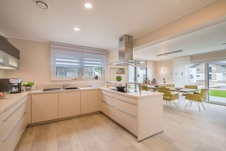 Moderne Wohnzimmer Mit Offene Küche in 2020   Haus küchen, Wohnzimmer mit offener küche, Musterhaus