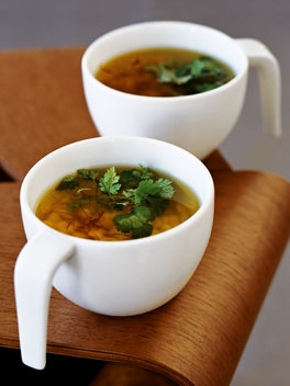 chicken soup with stars (stellini) via gourmettraveller.com.au