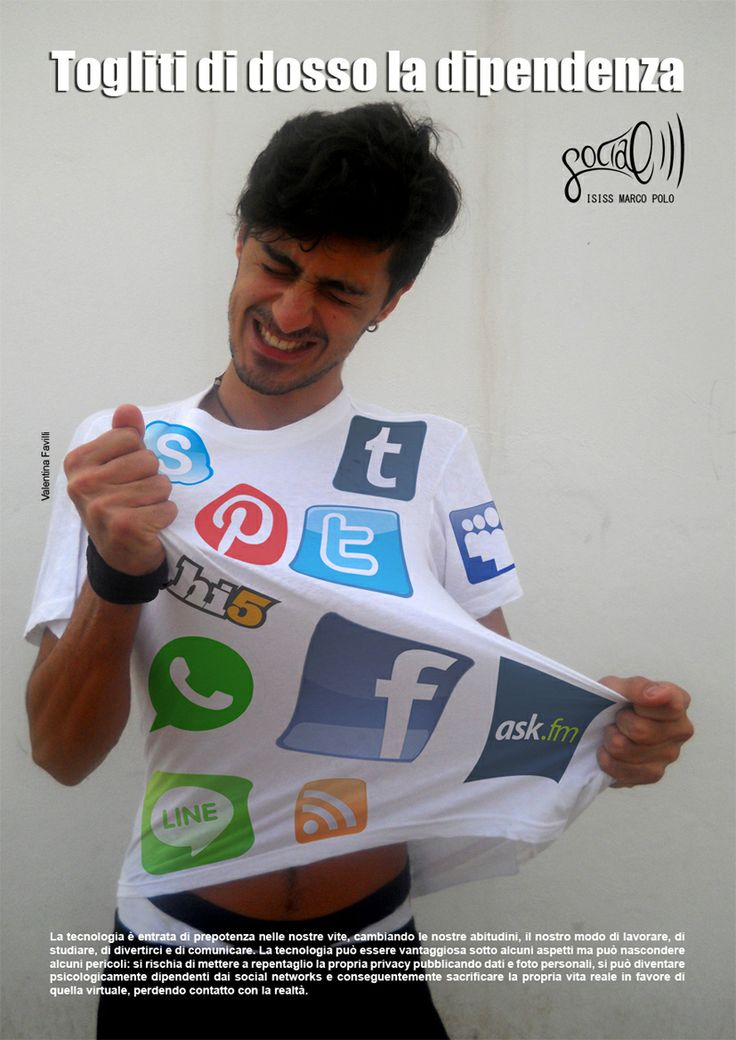 Campagna sociale contro la dipendenza da social networks. Valentina Favilli 2013