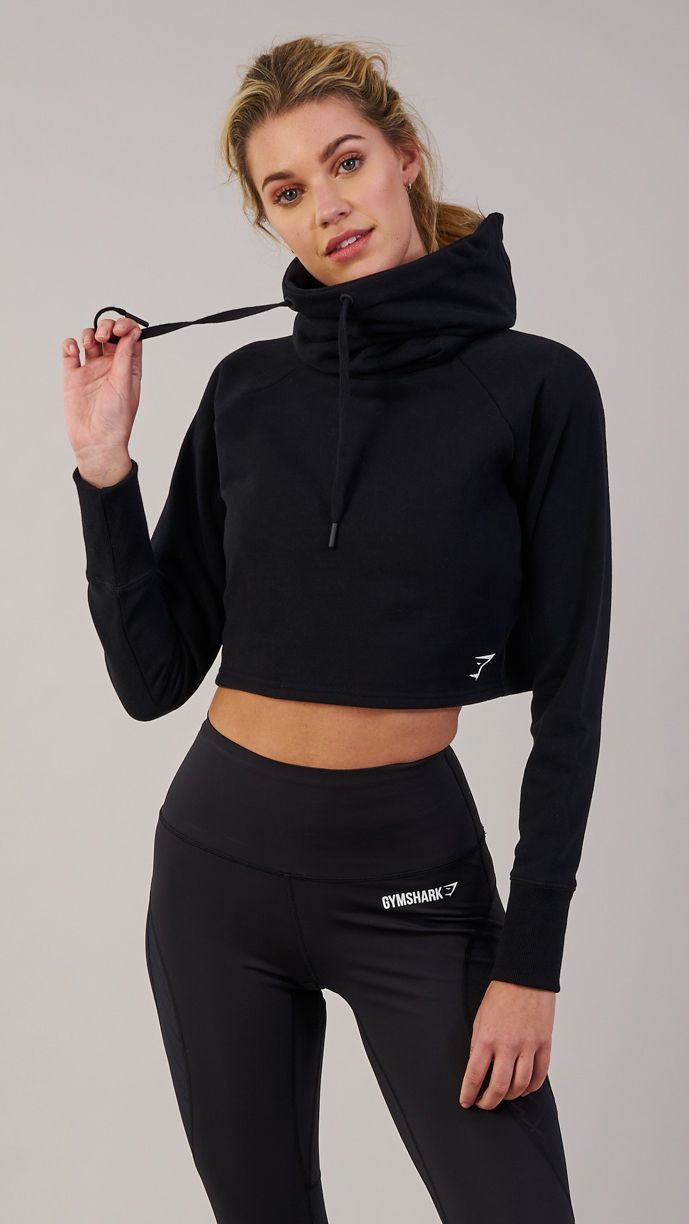 4f0d4ff70bfb77 Snuggle up in the Gymshark Slouch Cropped Hoodie, with oversized cowl neck  and indescribably soft cotton fabric. With a contemporary cropped fit and  scooped ...
