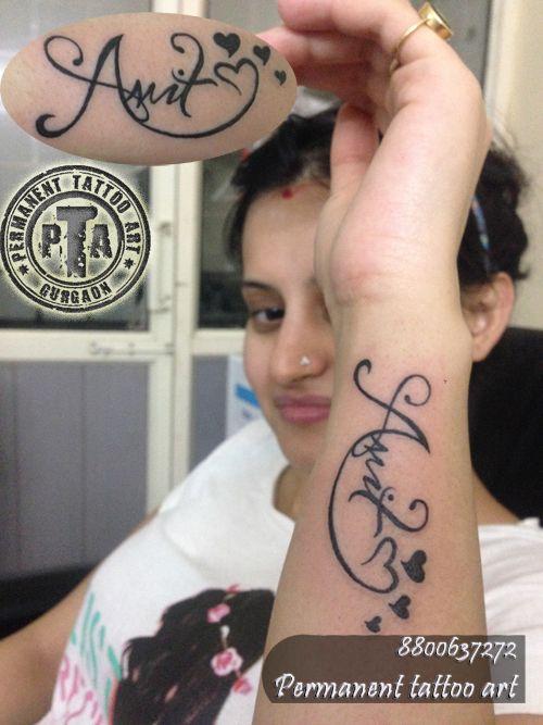 name tattoo, name tattoo design, name tattoo design ideas, name tattoo design with heart and star tattoo, name tattoo design for girls, name tattoo design on wrist  Done by -Deepak Karla 8800637272   AT- Permanent tattoo art, Gurgaon Delhi/NCR http://www.permanenttattooart.com/ https://www.facebook.com/PermanentTattooArt tattoo in Gurgaon (Haryana)