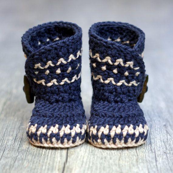 Crochet Pattern - Dakota Baby Boot - Boy - Girl - Instant Download - PDF