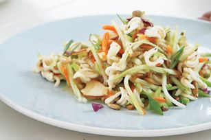Asian broccoli slaw.. I make this for every BBQ I go to and have at least one person ask me for the recipe.. every time! Definitely a crowd pleaser!!