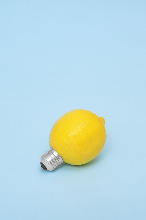Idea for lemon shoot. Shot in studio around combining items.  Loves the yellow with blue