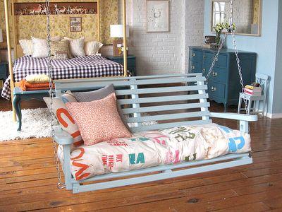 Best Swings Inside Homes Images On Pinterest Home Decor - Bedroom swings