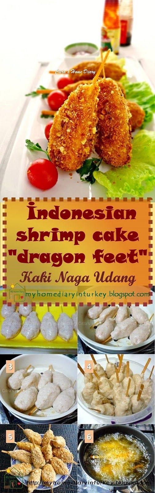 "Kaki Naga Udang / İndonesian shrimp cake ""dragon feet"". #kakinaga #udang #snack #shrimp #seafood #chicken #Indonesianfood #nugget #kidsmeal #appetizer"