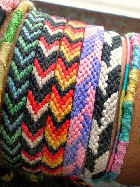 Friendship Bands..spent classes knitting these, when friendship day would be round the corner...