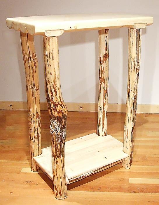 Superior Rustic Log Furniture Mountain Hewn Sofa Table