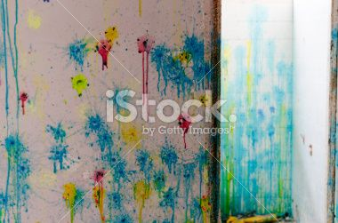 Paintball wall colours Royalty Free Stock Photo