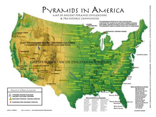 Pyramids in America Map There are 100's ofpyramidsand earthenpyramidmounds here in NorthAmerica. It is always said that no one knows who built them. But the truth is, they were built by the ancestors of the so-call AfricanAmericans& so-called Indigenous Indians.  #blackhistory365