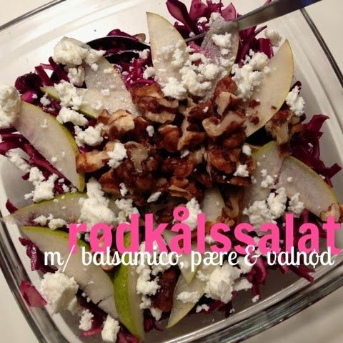 rødkålssalat med balsamico, pære & valnød - lidt om alt - og meget om mad