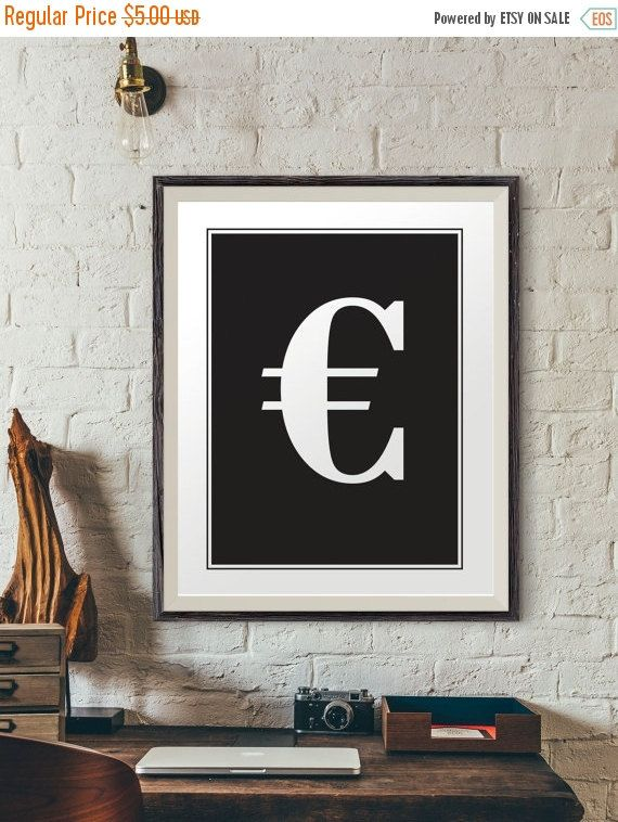 SALE 40% Euro sign quote poster quote print quote wall by INK88