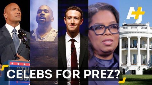 Could these celebrities become President? (via AJ)Would you vote for Oprah  or Kanye? #news #alternativenews