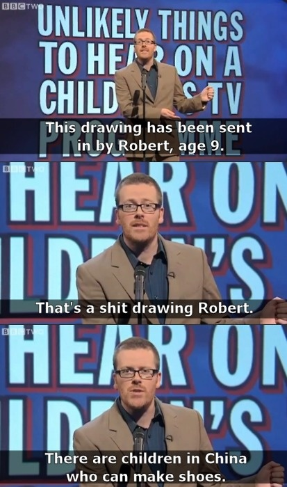 Unlikely things to hear on a children's TV show | Mock the Week