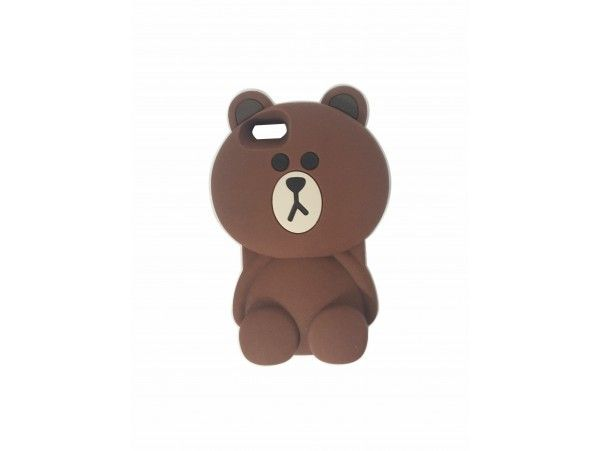 3D Cartoon Lovely Teddy Bear Soft Rubber Cover Silicone Back Case for iPhone 5 & 5s