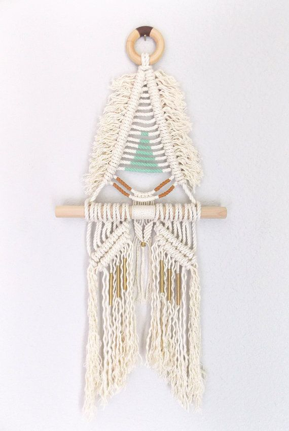 Macrame Wall Hanging SAKUYA no.2 by HIMO ART One of a by HIMOART, $142.00