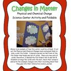 Changes in Matter Science Center Activities and foldable is a great resource for teachers to provide a quick hands-on activity to enhance instructi...