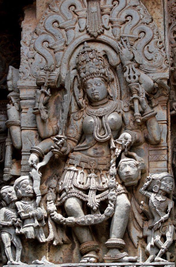 Kali in Halebidu, Karnataka.