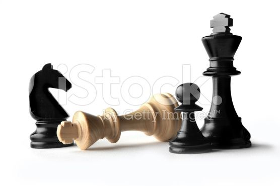 Chess: Kings, Knight and Pawn royalty-free stock photo