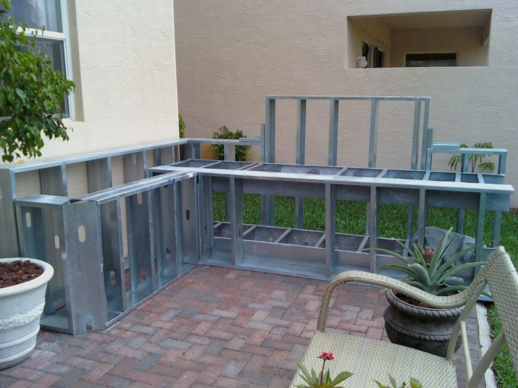 A Steel Framed Kitchen Under Construction. Outdoor Kitchen PlansOutdoor  Kitchen DesignOutdoor ... Part 45